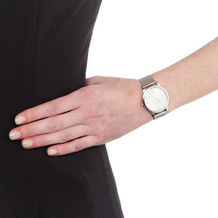 Match Point Reloj, Bracelet Silver, hires
