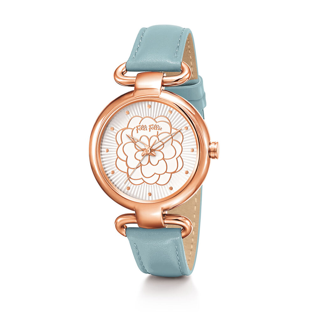 Santorini Flower Watch, Light Blue, hires