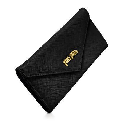 Folli Follie Foldable Wallet, Black, hires