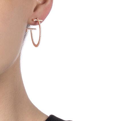 My FF 18kt Rose Gold Vermeil Small Hoop Earrings, , hires