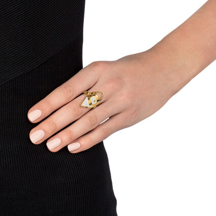 FF Talisman Yellow Gold Plated Ring, , hires