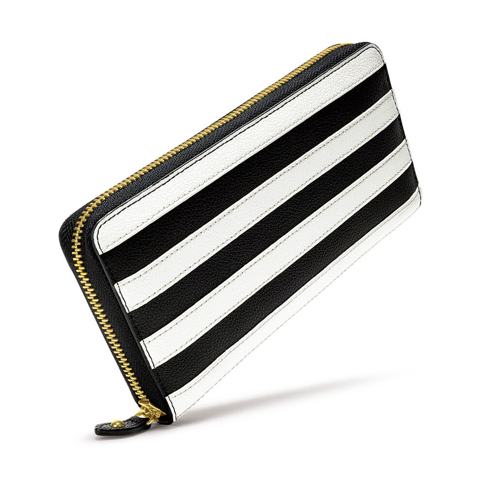 Club Riviera Big Continental Two Faced Wallet, Black, hires