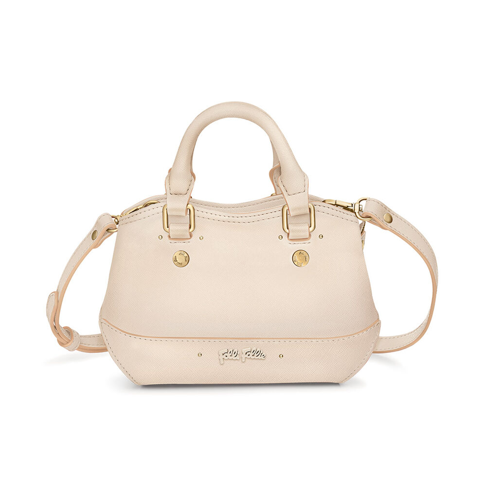 Uptown Beauty Mini Detachable Long Strap Handbag, Beige, hires