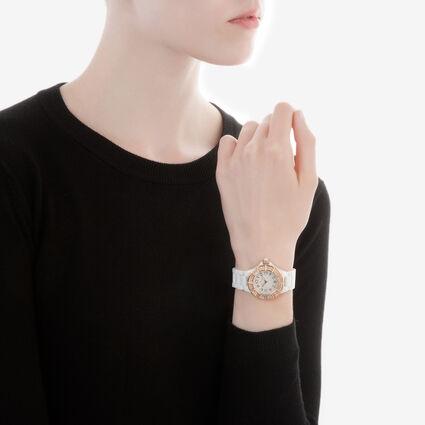 Dorian Ceramic Watch, Bracelet White, hires
