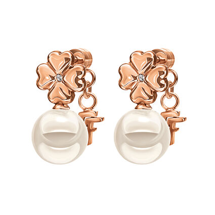 Pearl Muse Rose Gold Plated Short Earrings, , hires