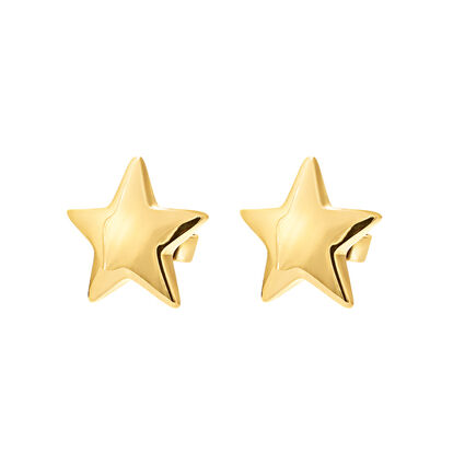 Style Stories Yellow Gold Plated Stud Earrings, , hires