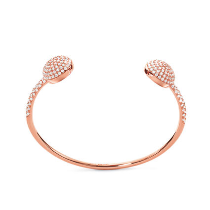 Fashionably Silver Essentials Rose Gold Plated Σταθερό Βραχιόλι, , hires