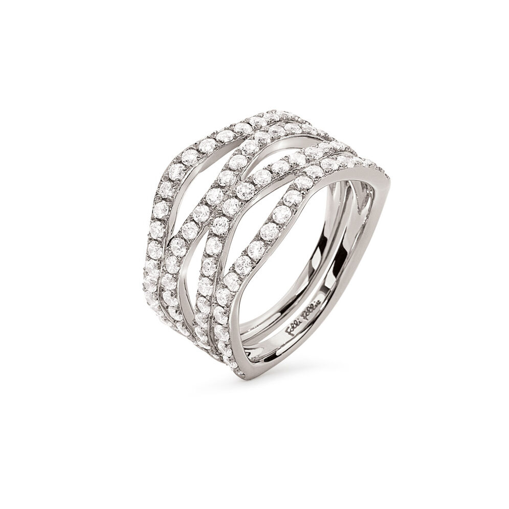 Fashionably Silver Temptation Rhodium Plated Ring, , hires