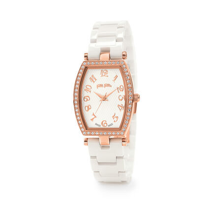 Debutant Bliss Swiss Made Ceramic Watch, Bracelet White, hires