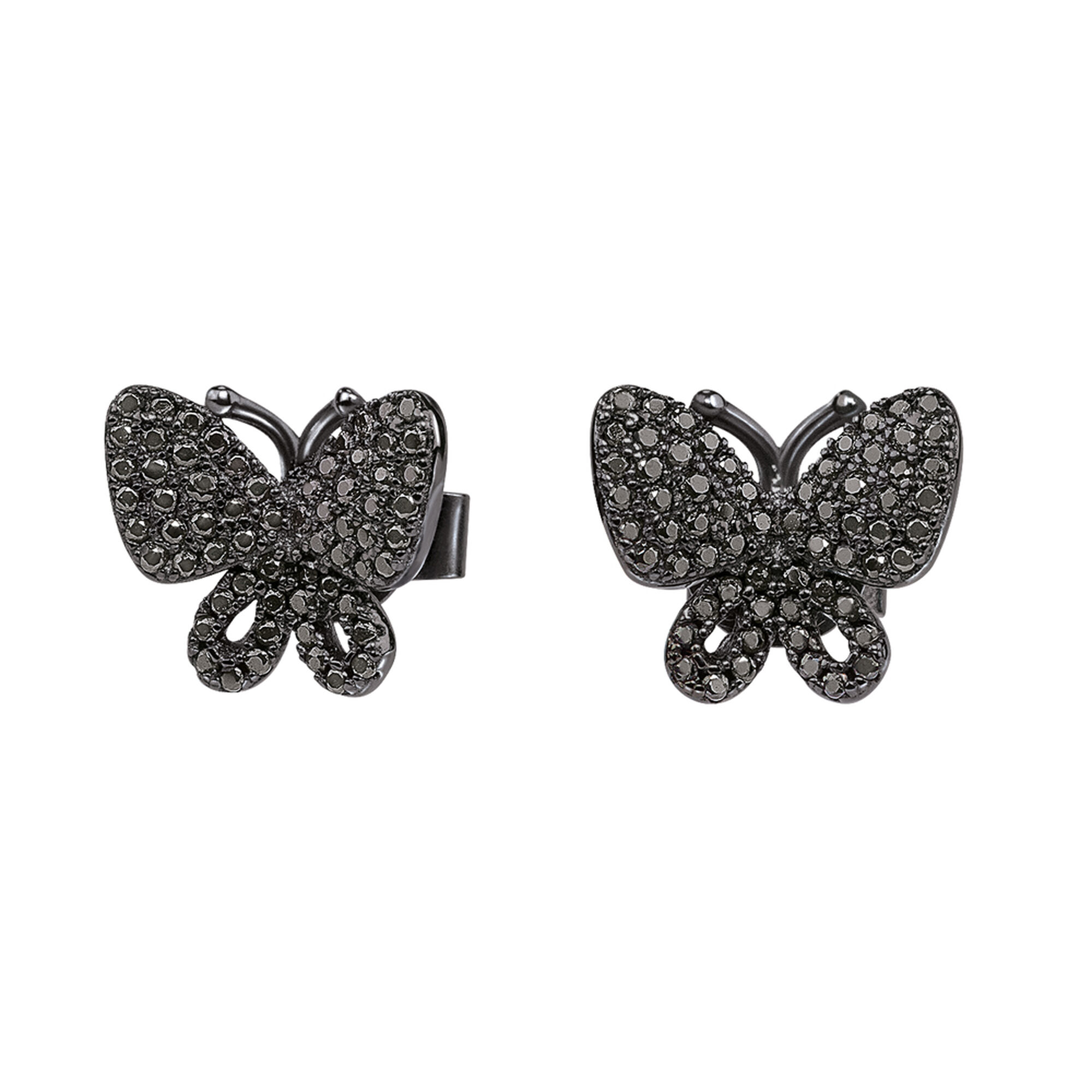 butterfly stud jewellery simply zoom earrings silver sterling zirconia earring cubic pave