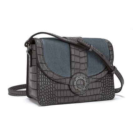 Lady Club Small Leather Shoulder Bag, Gray, hires