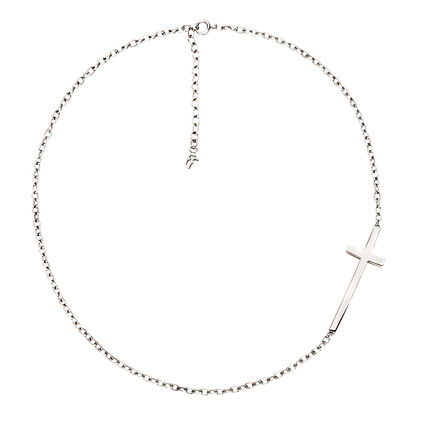 Carma Silver Plated Short Necklace, , hires