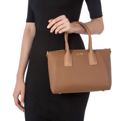 On The Go Small Handbag, Brown, hires