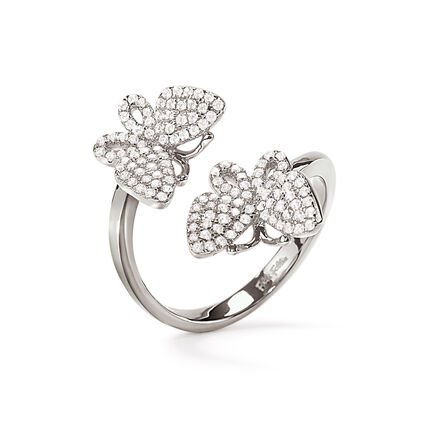 Wonderfly Rhodium Plated Ring, , hires