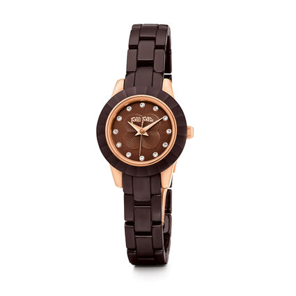MINI GALA Watch, Bracelet Brown, hires