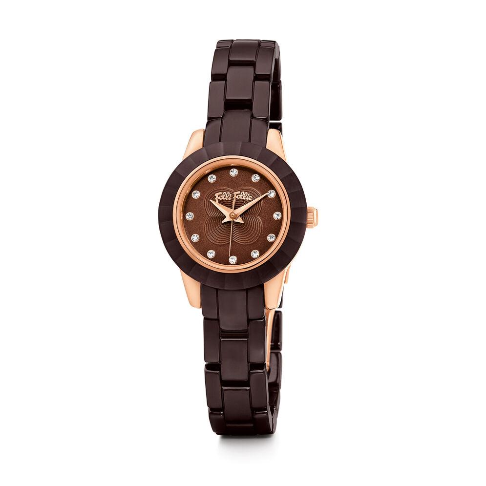 Mini Gala Ceramic Watch, Bracelet Brown, hires