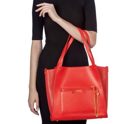 On The Go Large Shoulder Bag , Red, hires