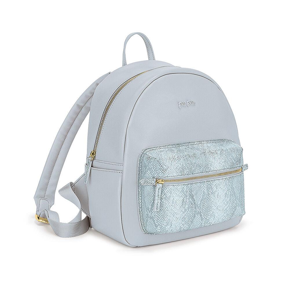 On The Go Snake External Pocket Backpack, Blue, hires