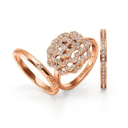 Santorini Flower Rose Gold Plated Set Ring, , hires