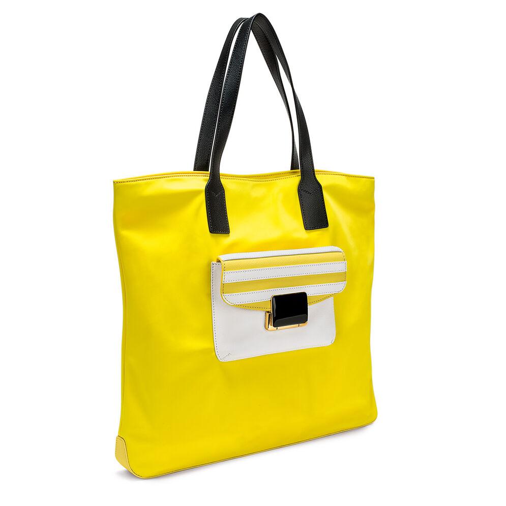 Club Riviera Shopping Τσάντα, Yellow, hires