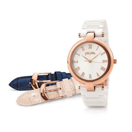 Classy Twist Watch, Bracelet White, hires