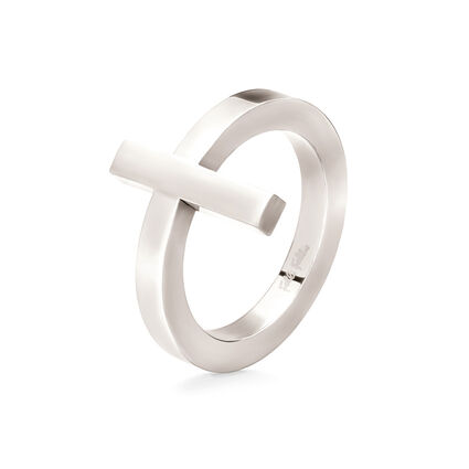 Carma Silver Plated Cross Ring, , hires