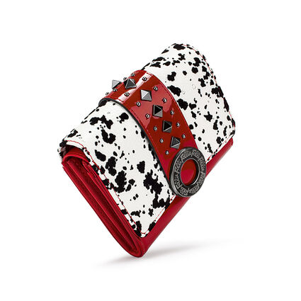 Funky Safari Small Foldable Wallet, White Red, hires