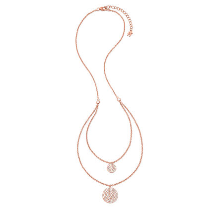 Discus Rose Gold Plated Short Necklace, , hires