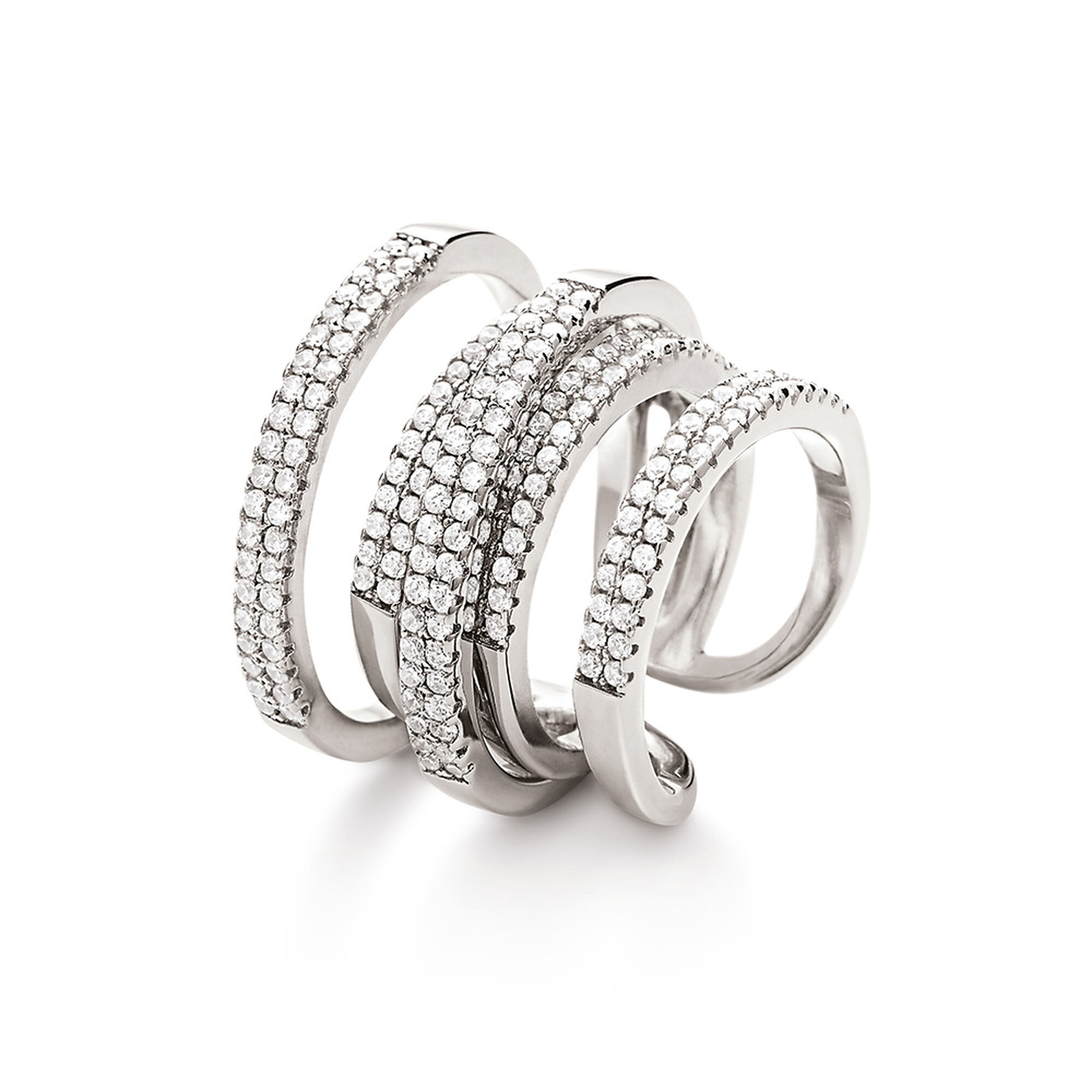 p asp split rings rhodium plated