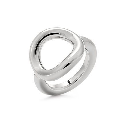 Metal Chic Silver Plated Chevalier Ring, , hires