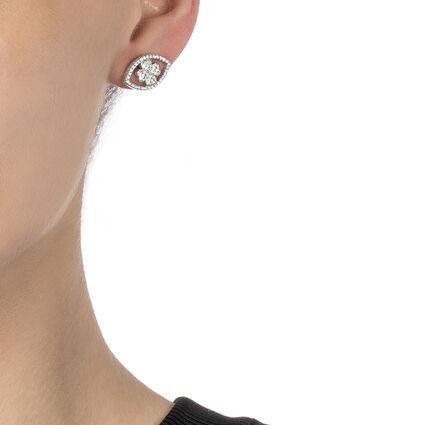 Heart4Heart Mati Rhodium Plated Stud Earrings , , hires