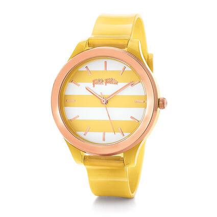 Club Riviera Medium Case Plastic Watch , Yellow, hires