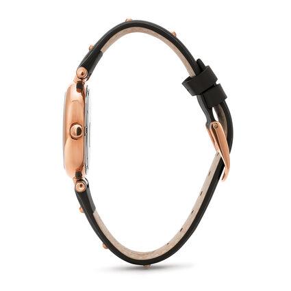 Cyclos Rocks Medium Case Leather Watch , Black, hires