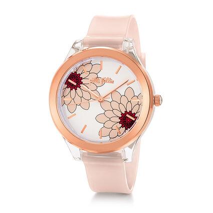 Fleur Riviera Medium Case Plastic Watch , Pink, hires
