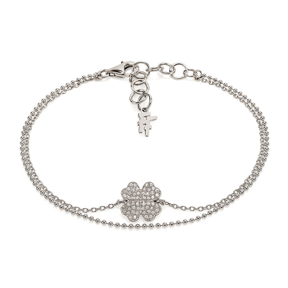 Fashionably Silver Heart4Heart Rhodium Plated Bracelet, , hires