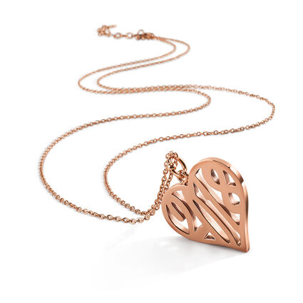 Lucky Charm Rose Gold Plated Long Necklace, , hires