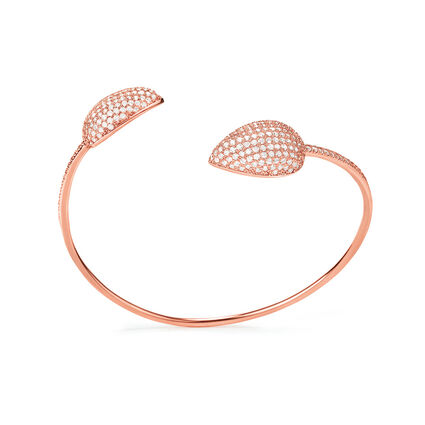 Fashionably Silver Stories Rose Gold Plated Σταθερό Βραχιόλι, , hires