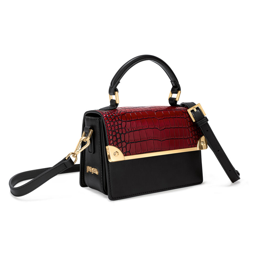 Miss FF Small Leather Handbag, Brown, hires
