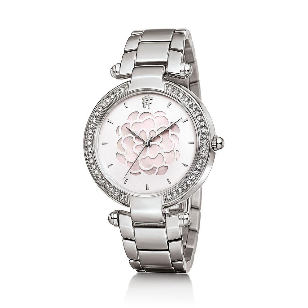 Santorini Flower Watch, Silver, hires