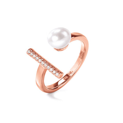 Acro Balance Rose Gold Plated Ring , , hires
