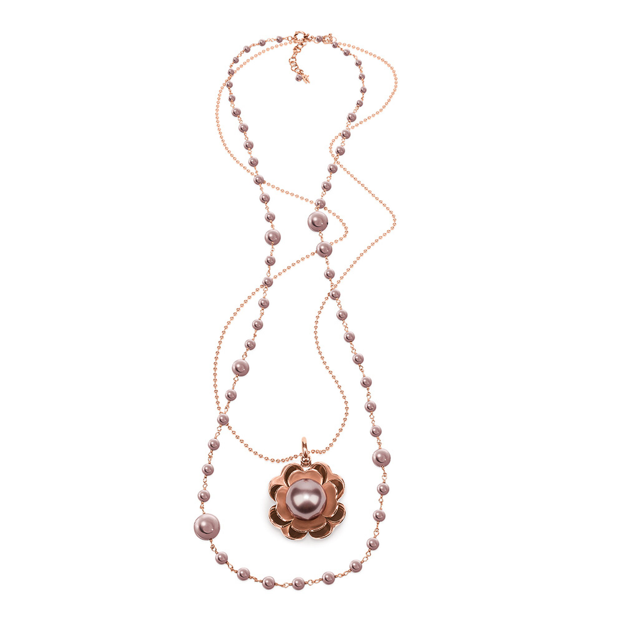 sterling p colour necklace pink pearl silver keshi set asp