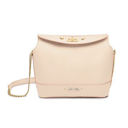 Uptown Beauty Mini Bucket Shoulder Bag, Beige, hires