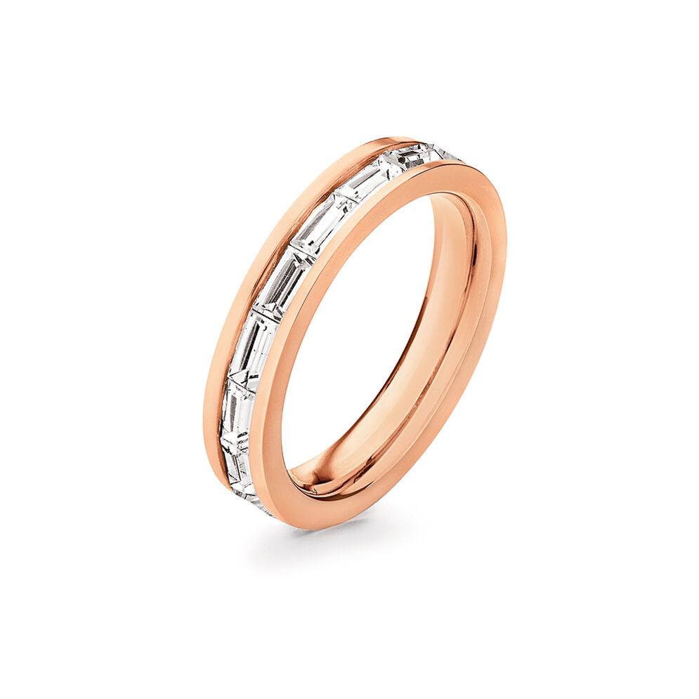 Classy Rose Gold Plated Παγέτες Λεπτό Σειρέ Δαχτυλίδι, , hires
