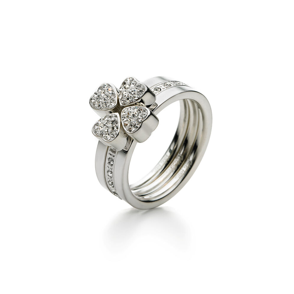Heart4Heart Silver Plated Set Ring, , hires