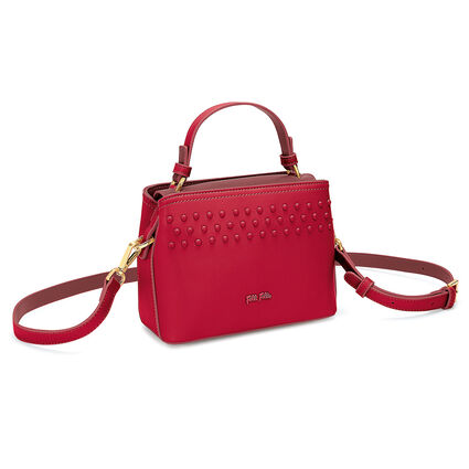 Studded Beauty Mini Tσάντα Xειρός με extra pouch, Red, hires