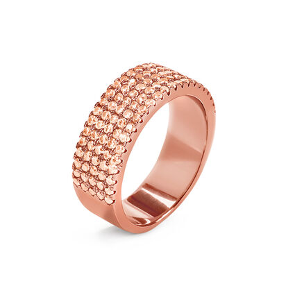 Fashionably Silver Essentials Rose Gold Plated Band Ring , , hires