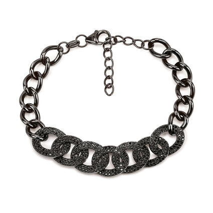 Fashionably Silver Temptation Black Rhodium Plated Βραχιόλι, , hires