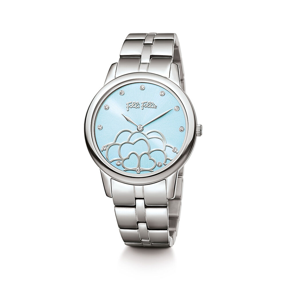 Santorini Flower Watch, Bracelet Silver, hires