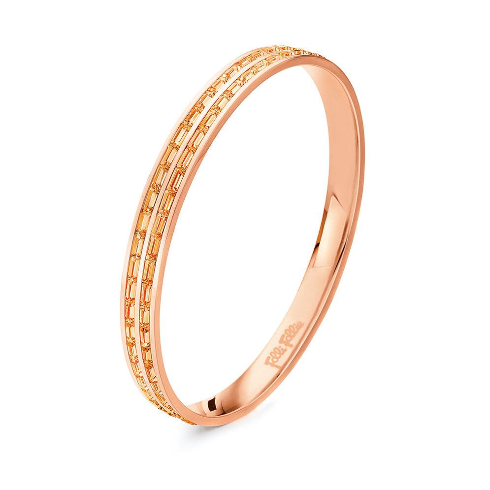Classy Rose Gold Plated Μικρή Διάμετρος Σταθερό Βραχιόλι, , hires