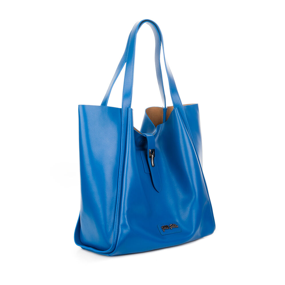 Nomad Large Leather Shoulder Bag with Inner Detachable Pouch, Blue, hires